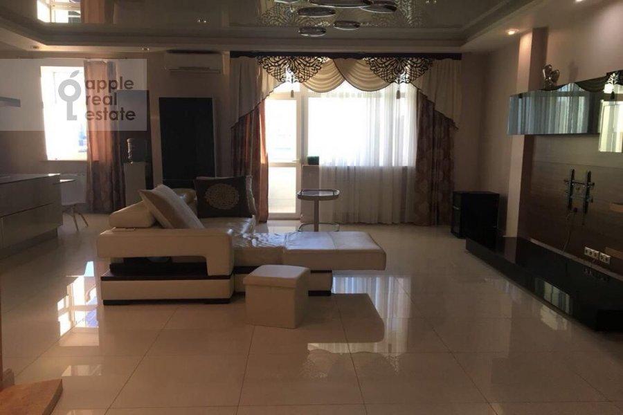 Гостиная в 2-комнатной квартире по адресу Шмитовский проезд 16с2