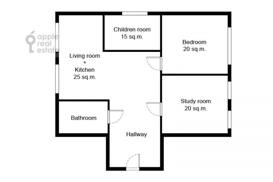 Поэтажный план 4-комнатной квартиры по адресу Пушкарев переулок 11