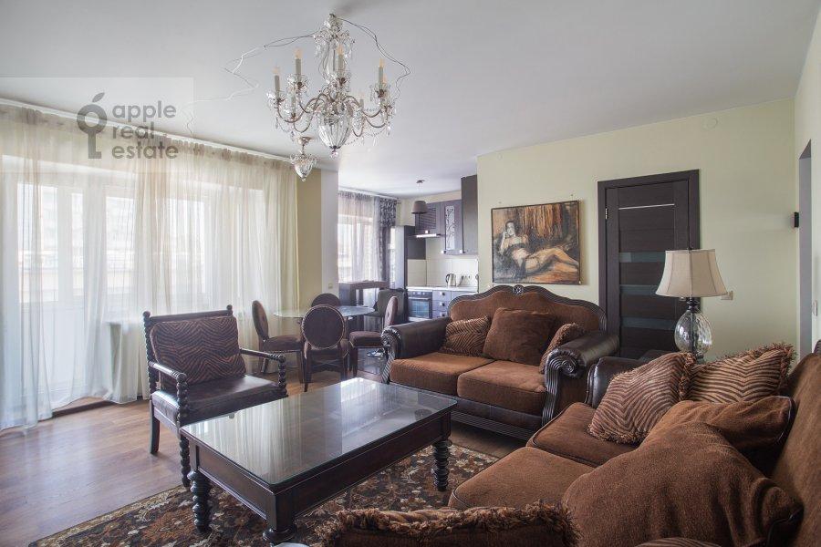 Living room of the 2-room apartment at Dmitrovka Malaya ul. 24/2