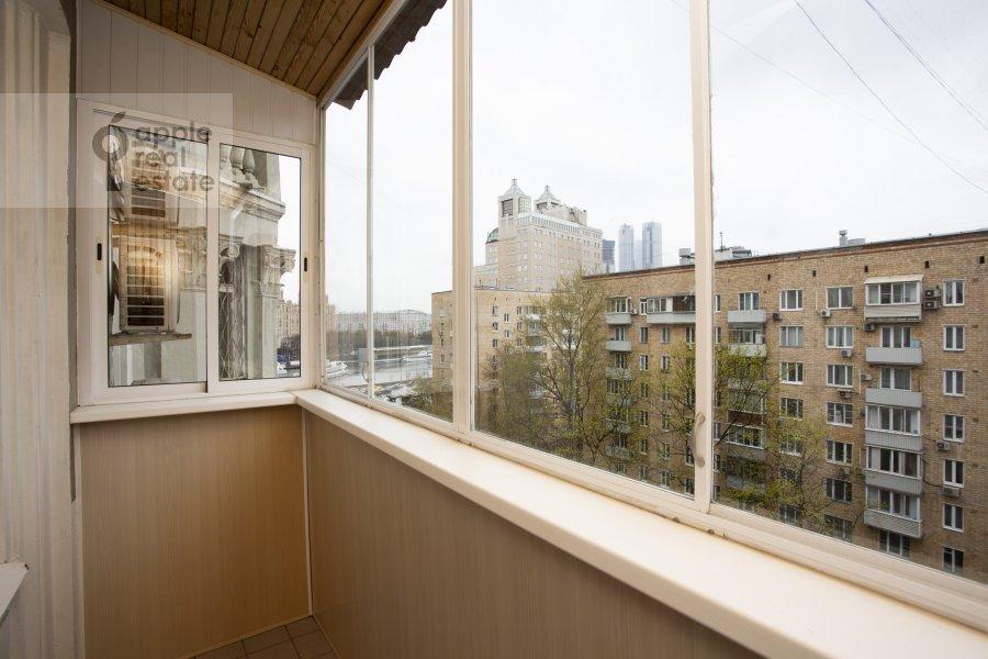 Balcony / Terrace / Loggia of the 4-room apartment at Nikolaeva ul. 4