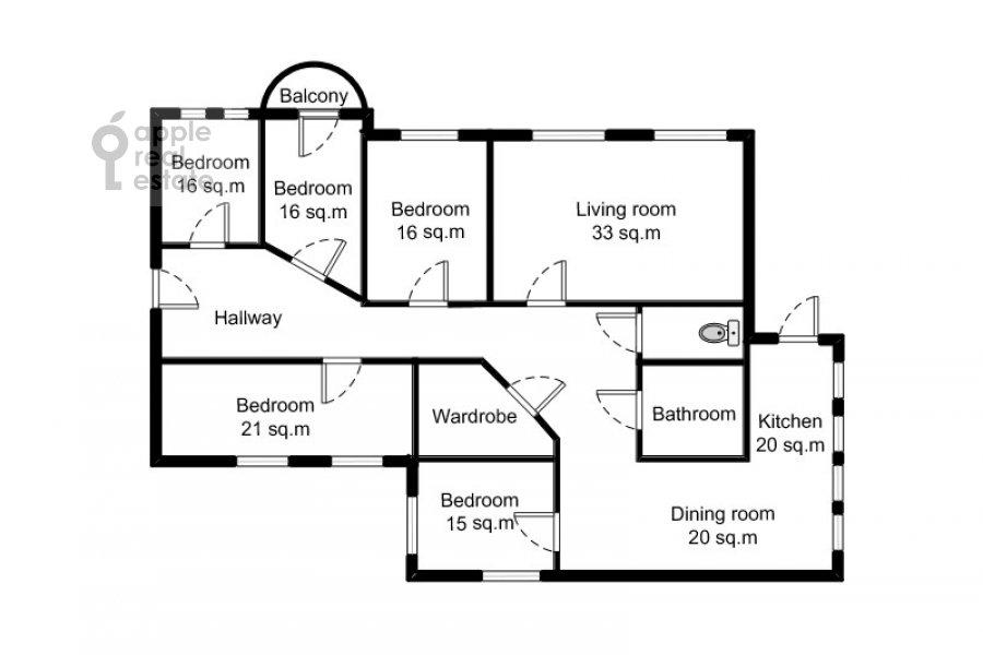 Поэтажный план 6-комнатной квартиры по адресу Мясницкая улица 15