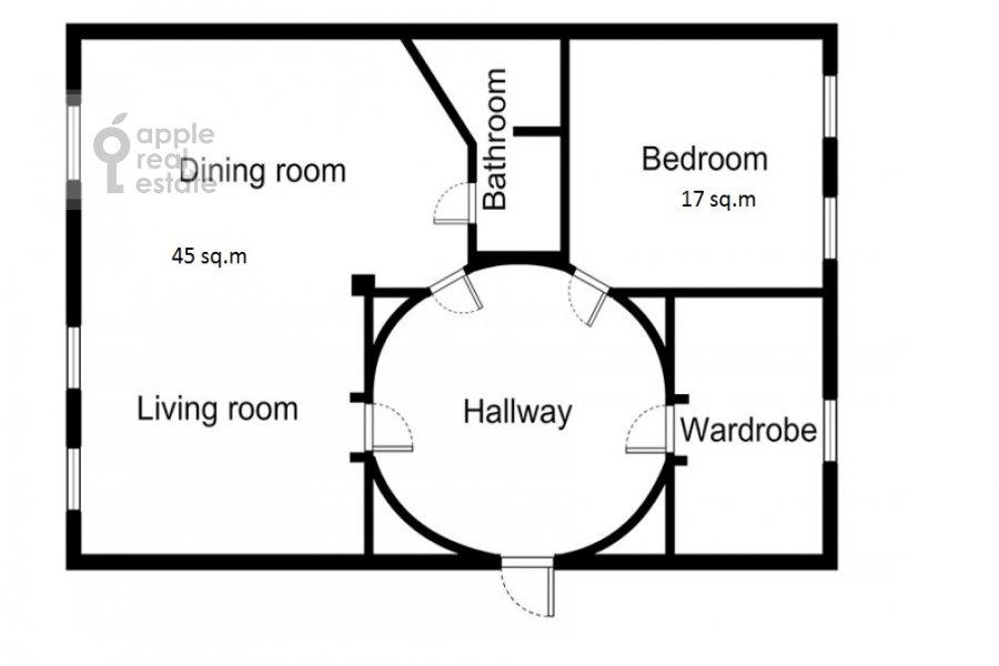 2-room apartment at Tverskaya ul. 4k1