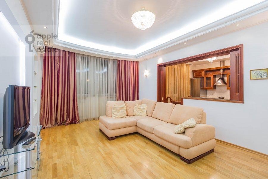 Гостиная в 3-комнатной квартире по адресу Маршала Тимошенко ул. 17к2