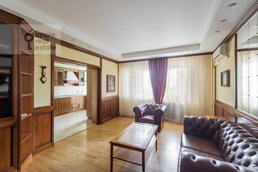 Гостиная в 3-комнатной квартире по адресу Ленинский  пр-т. 137к1