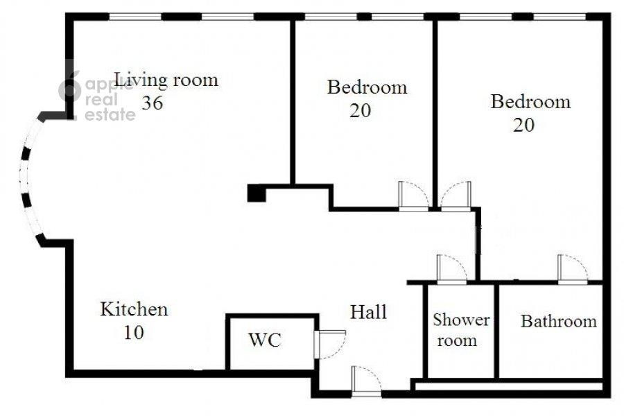 6-room apartment at Tsvetnoy bul. 16/1