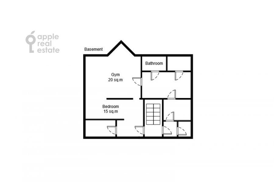 Поэтажный план 6-комнатной квартиры по адресу Береговая ул. 8