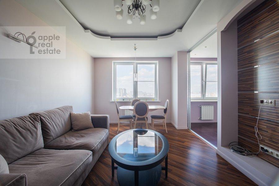 Гостиная в 3-комнатной квартире по адресу Хорошевское шоссе 12с1
