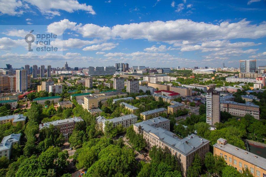 Вид из окна в 3-комнатной квартире по адресу Хорошевское шоссе 12с1