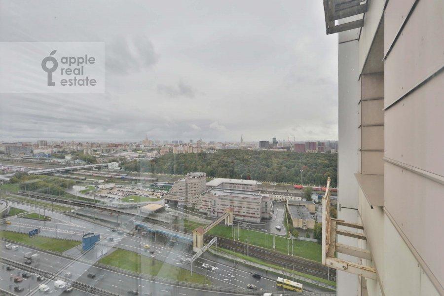 Вид из окна в 2-комнатной квартире по адресу Хорошевское шоссе 16к2
