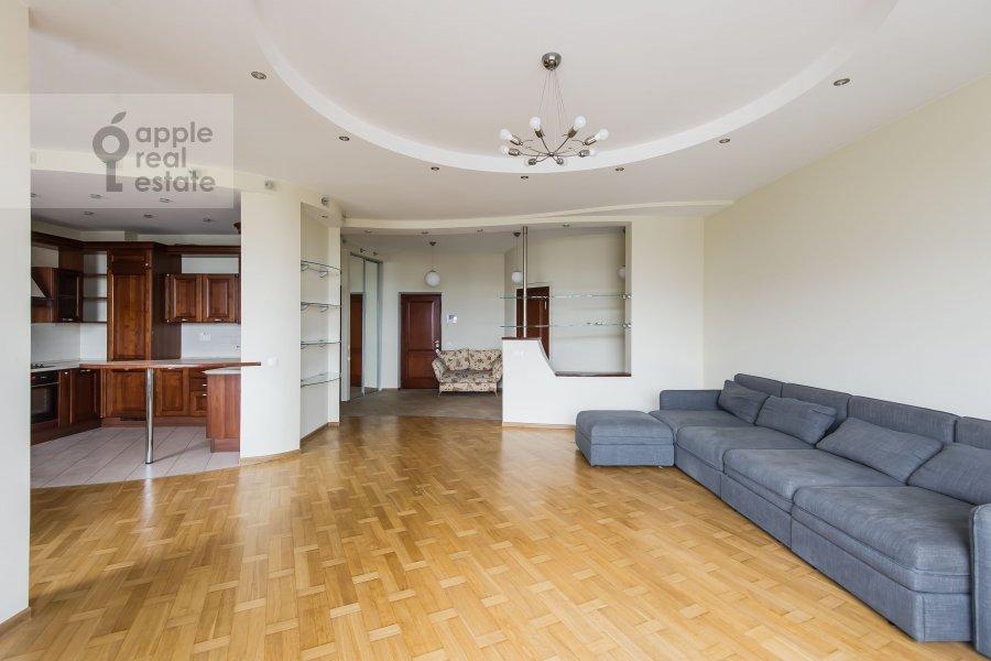 Гостиная в 3-комнатной квартире по адресу Лобачевского ул. 92к4