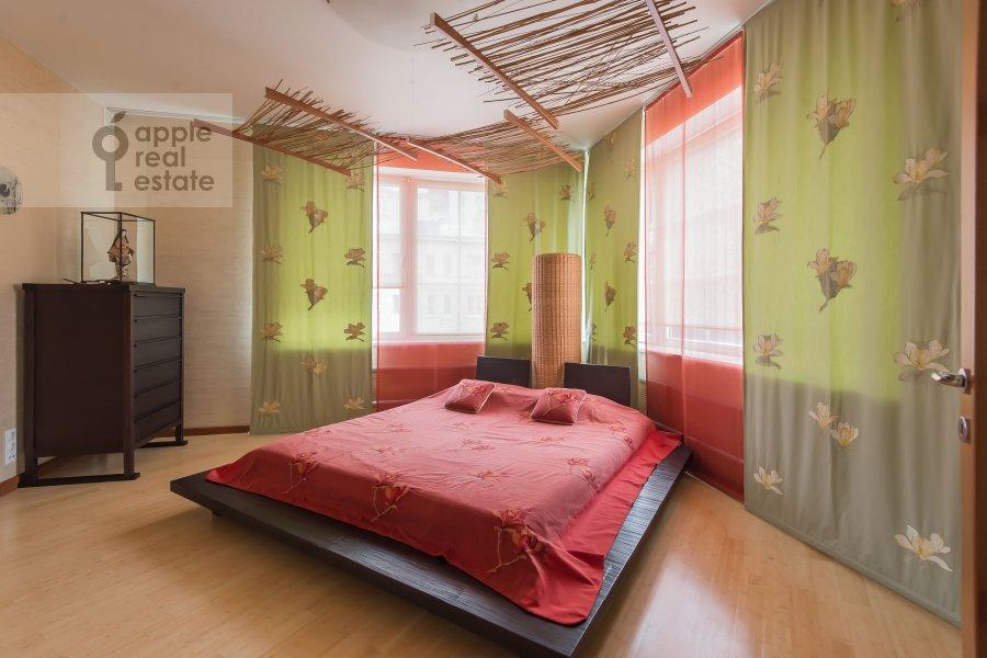Спальня в 3-комнатной квартире по адресу 1-й Смоленский переулок 17