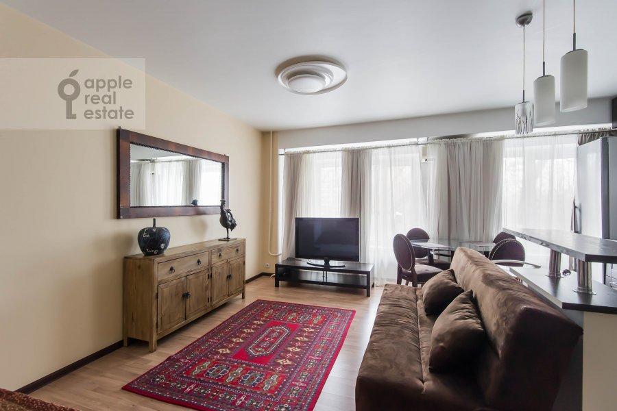Гостиная в 1-комнатной квартире по адресу Девятинский Большой пер. 5