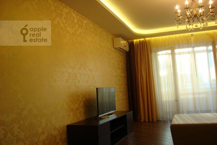 Living room of the 3-room apartment at Istrinskaya ul. 8k3