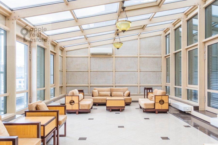 Balcony / Terrace / Loggia of the studio apartment at Kompozitorskaya ul. 17