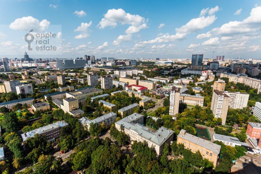 View from the window of the 3-room apartment at Khoroshevskoe shosse 12k1