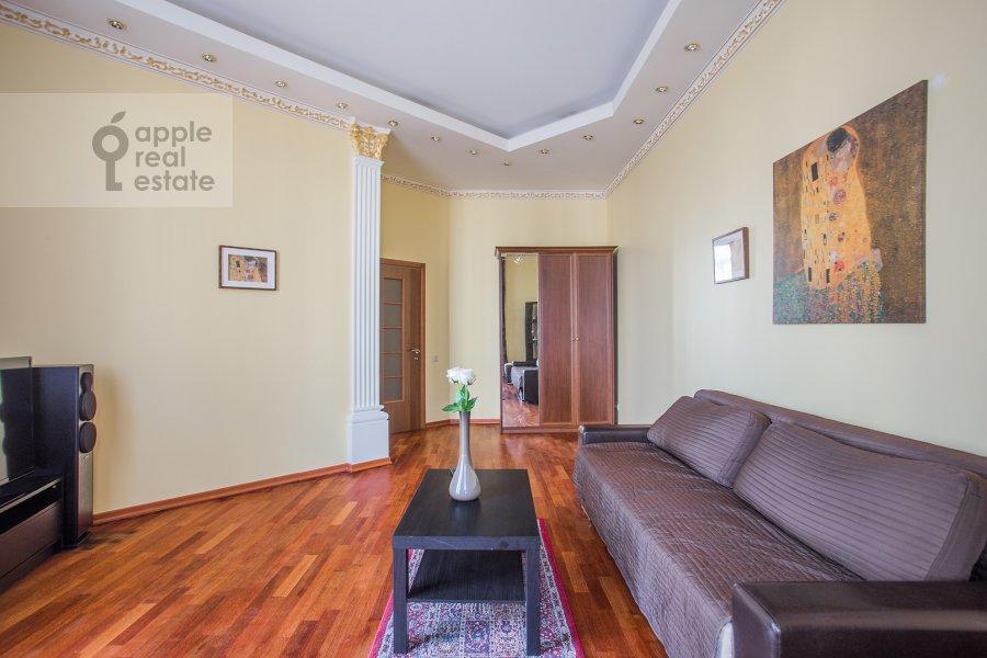 Living room of the 2-room apartment at Minskaya ul. 1gk1
