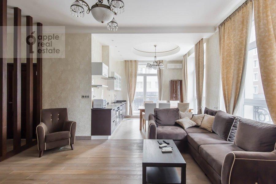 Living room of the 3-room apartment at Lyusinovskiy 3-y per. 1S1