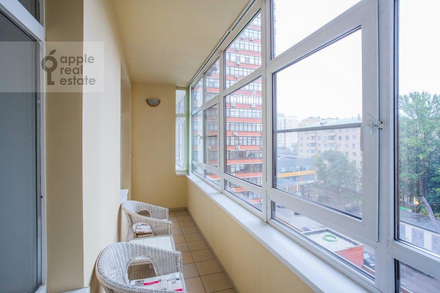 Balcony / Terrace / Loggia of the 3-room apartment at Leningradskiy prospekt 76k2