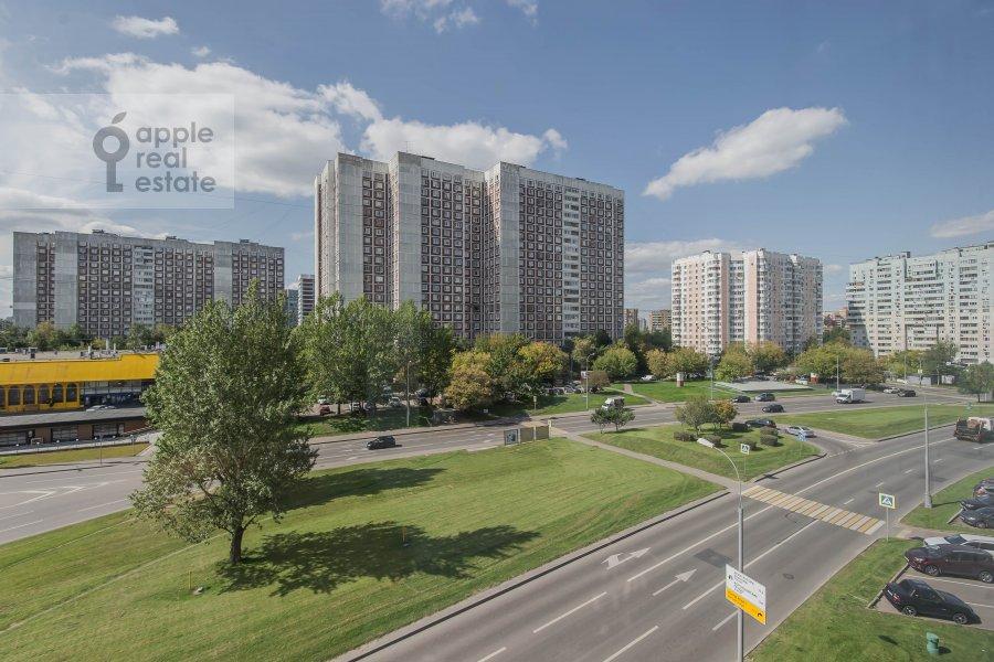 View from the window of the 3-room apartment at Arkhitektora Vlasova 22