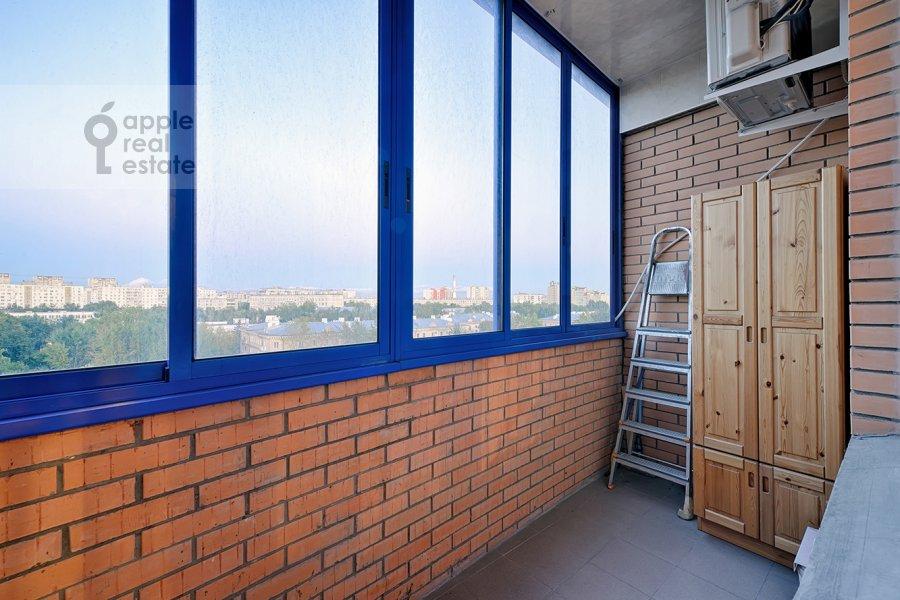 Balcony / Terrace / Loggia of the 3-room apartment at Skhodnenskaya ulitsa 35S1