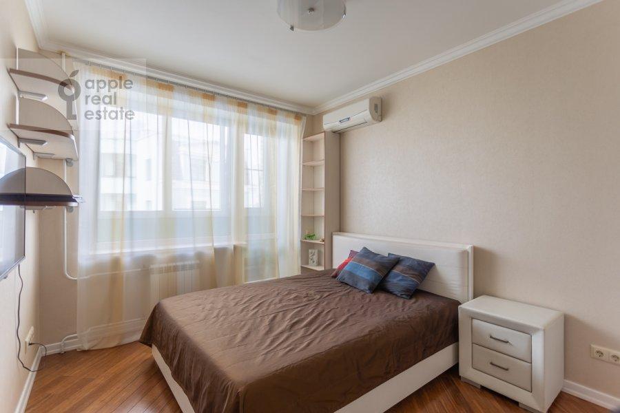 Bedroom of the 3-room apartment at Nikitskiy bul. 17