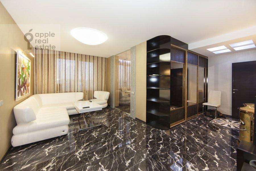 Living room of the 3-room apartment at Khoroshevskoe sh. 12k1