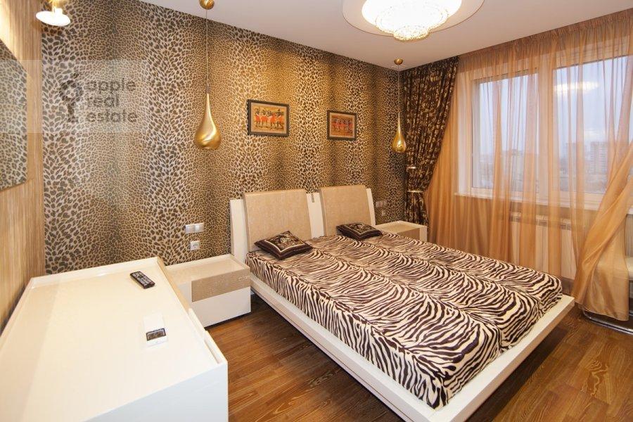 Bedroom of the 3-room apartment at Khoroshevskoe sh. 12k1