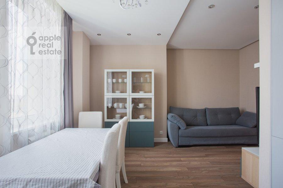 Гостиная в 3-комнатной квартире по адресу Мосфильмовская ул. 88к2с4
