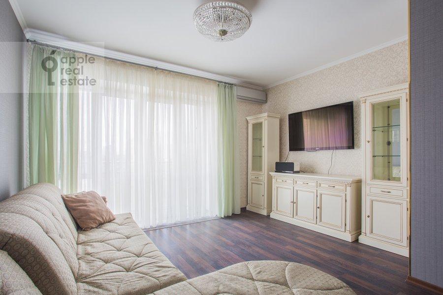 Гостиная в 2-комнатной квартире по адресу Нежинская ул. 1к3