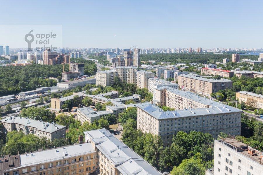 Вид из окна в 3-комнатной квартире по адресу Врубеля ул. 8