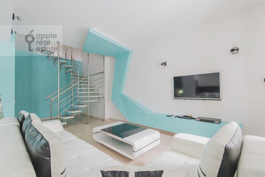 Гостиная в 3-комнатной квартире по адресу Кутузовский проспект 23