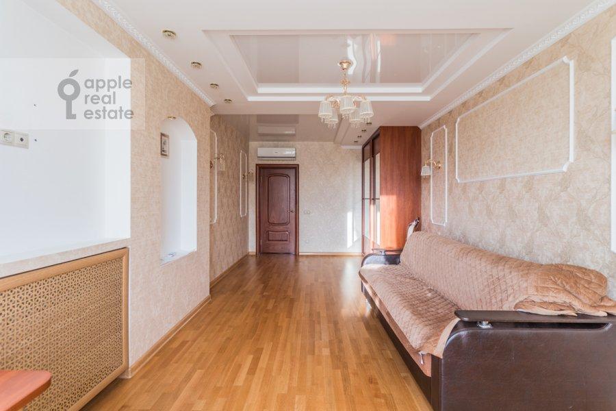 Bedroom of the 3-room apartment at 1-y Nagatinskiy proezd 11k1