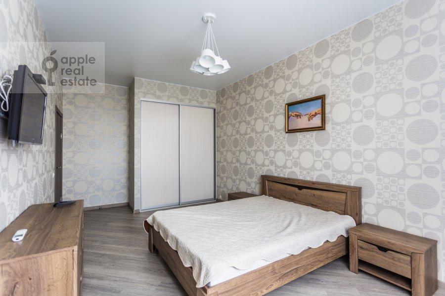 Bedroom of the 2-room apartment at Belomorskaya ul. 11k1