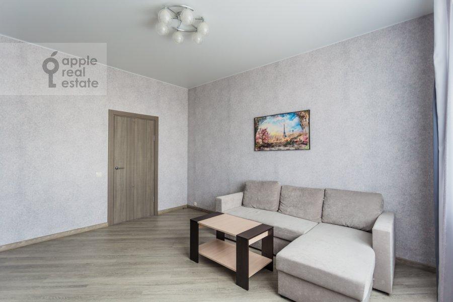 Living room of the 2-room apartment at Belomorskaya ul. 11k1