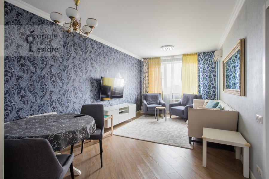 Гостиная в 4-комнатной квартире по адресу Рублевское шоссе 18к3