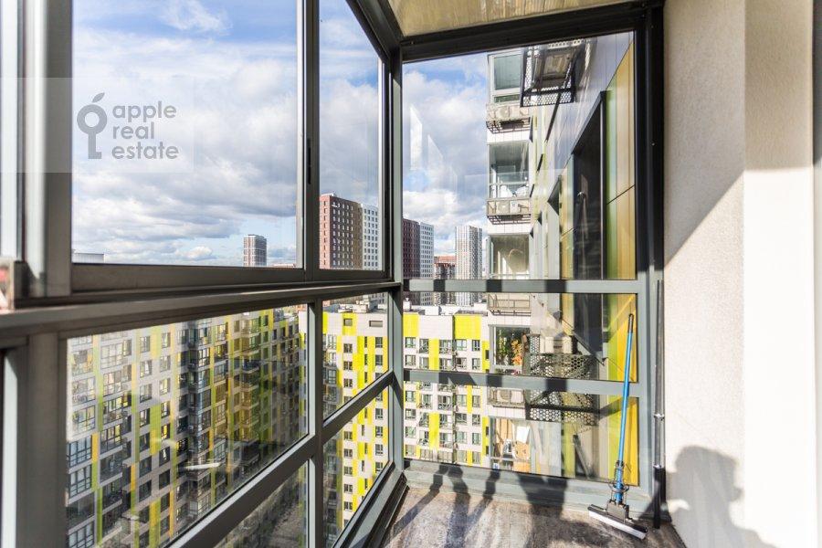 Balcony / Terrace / Loggia of the 3-room apartment at Beregovoy pr. 5k2